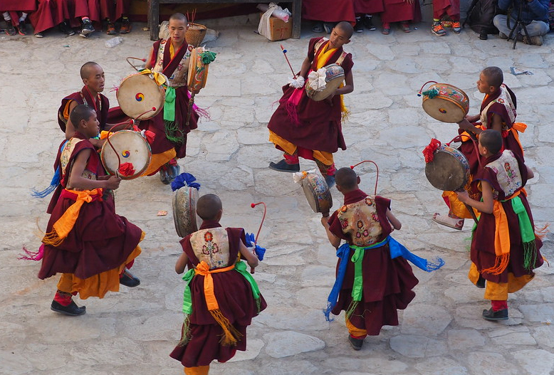 Monk Dancing in Mustang Festival