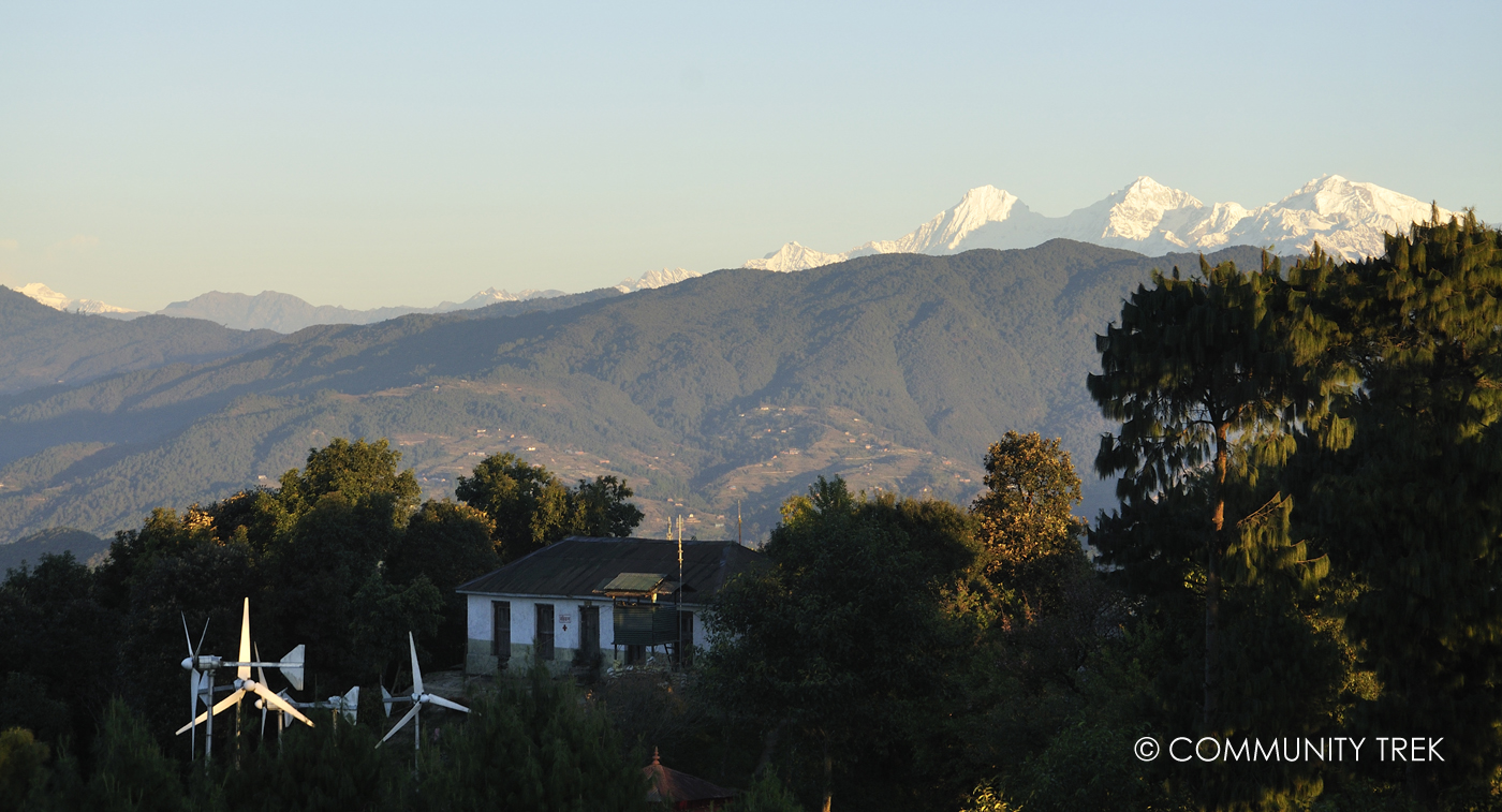View of Langtang and Ganesh Himal