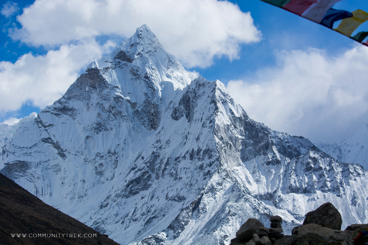 Ama Dablam, one of the beautiful Mountain. Everest Photography Trek