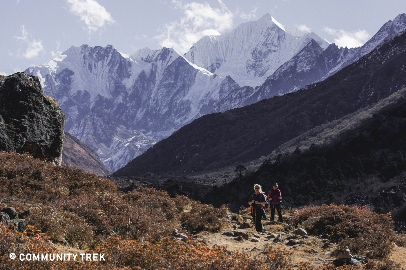 Langtang Valley and surrounding Mountains.