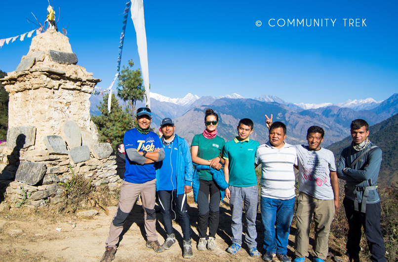 Trekking with Community Trek Team